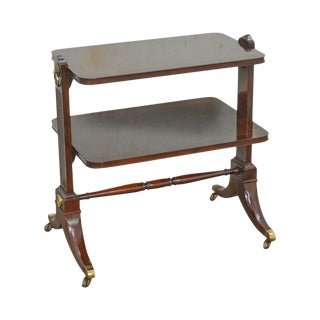 Baker Mahogany Regency Style 2 Tier Side Table