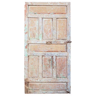 1960s Vintage Single Panel Moroccan Wooden Door For Sale