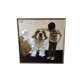 "McCaine ""Boy With Dog"" Vintage Painting"