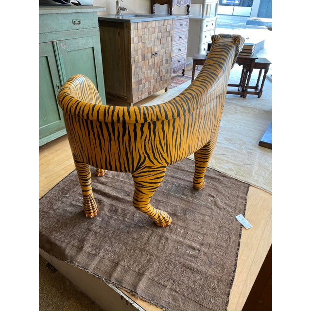 Campaign 1970's Vintage Tiger Tub Chair For Sale - Image 3 of 13