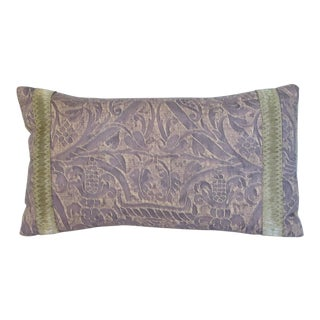 Vintage Fortuny Silk Pillow