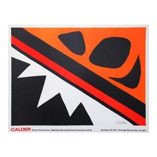 """Alexander Calder """"La Grenouille Et La Scie Lithograph"""" 1971 For Sale"""