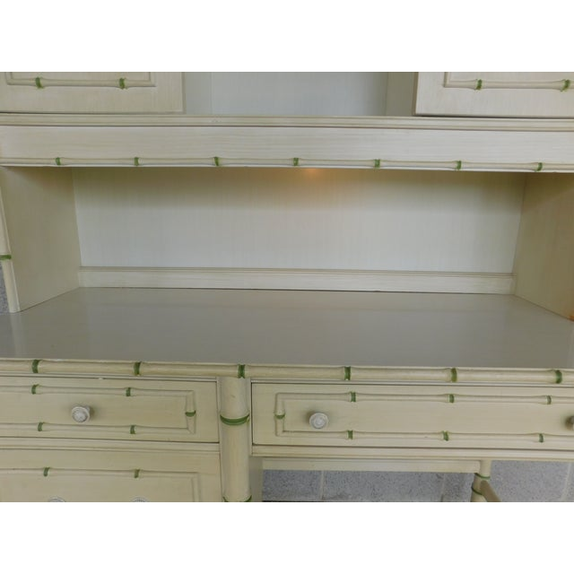 Features Quality Solid Construction, Original Antiqued White Finish with Lime Accented Bamboo, 4 Dovetailed Drawer,...
