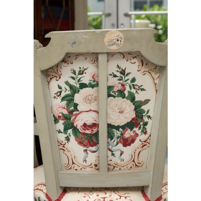 Louis XVI Style Painted Armchairs - a Pair For Sale - Image 10 of 13