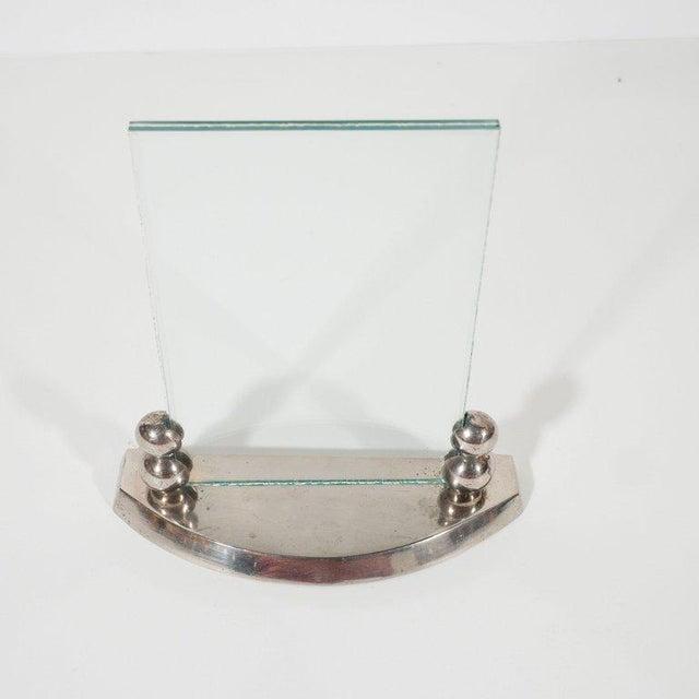 French Art Deco Streamlined Machine Age Chrome Amp Glass