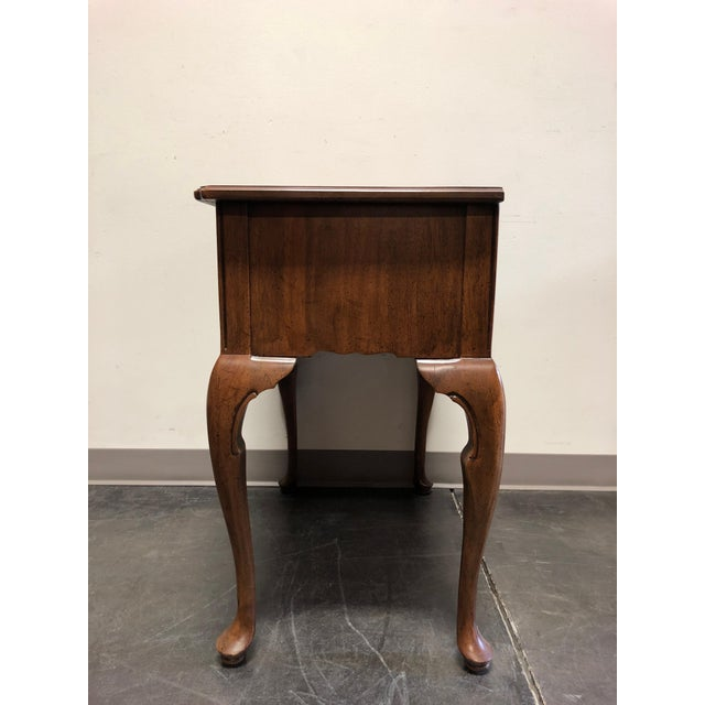 1960s Davis Cabinet Co Solid Walnut Queen Anne Console Table For Sale - Image 5 of 13