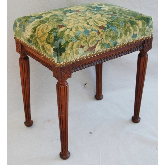 Italian Scalamandre Marly Fabric Bench - Image 4 of 11