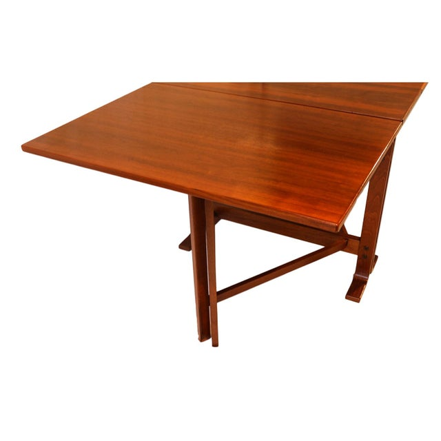 Danish Drop Leaf Teak Dining Table Bruno Mathsson Style For Sale - Image 9 of 10