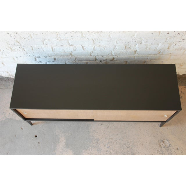 Paul McCobb Planner Group Mid-Century Modern Ebonized Low Credenza For Sale - Image 5 of 11