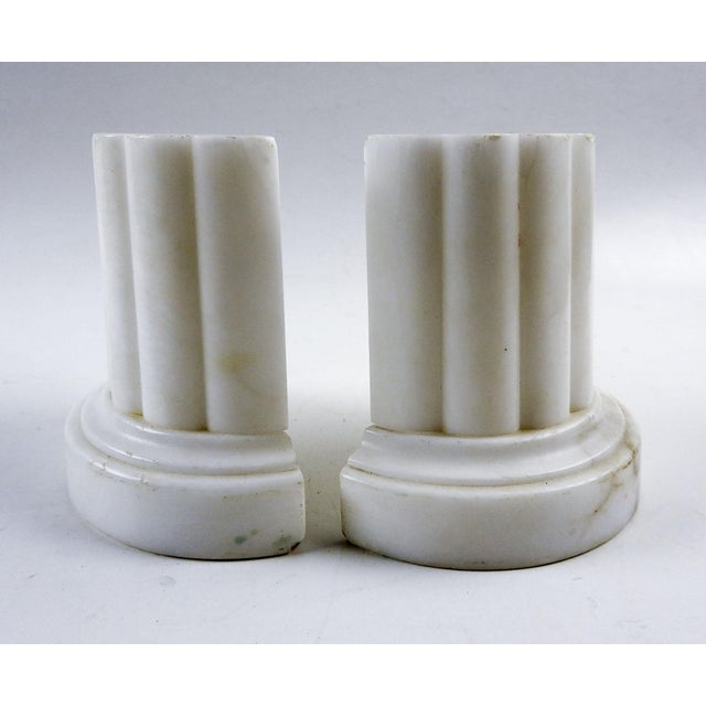 Vintage Italian Marble Column Bookends - a Pair For Sale In San Antonio - Image 6 of 6