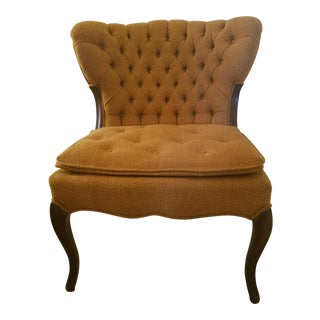 Orange Tweed Accent Chair For Sale