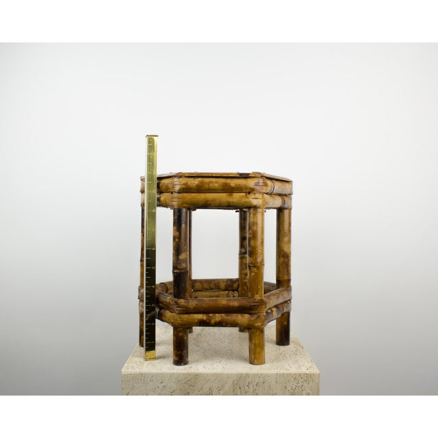 Bamboo Tortoise Bamboo Plant Stand Table For Sale - Image 7 of 8