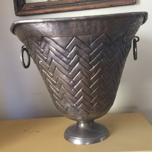 Engraved Metal Vessel Ice Bucket - Image 8 of 10