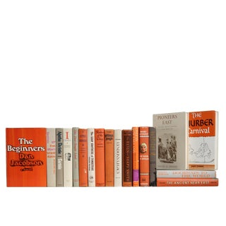 History, Mystery & Classics in Granite & Tangerine, S/18 For Sale