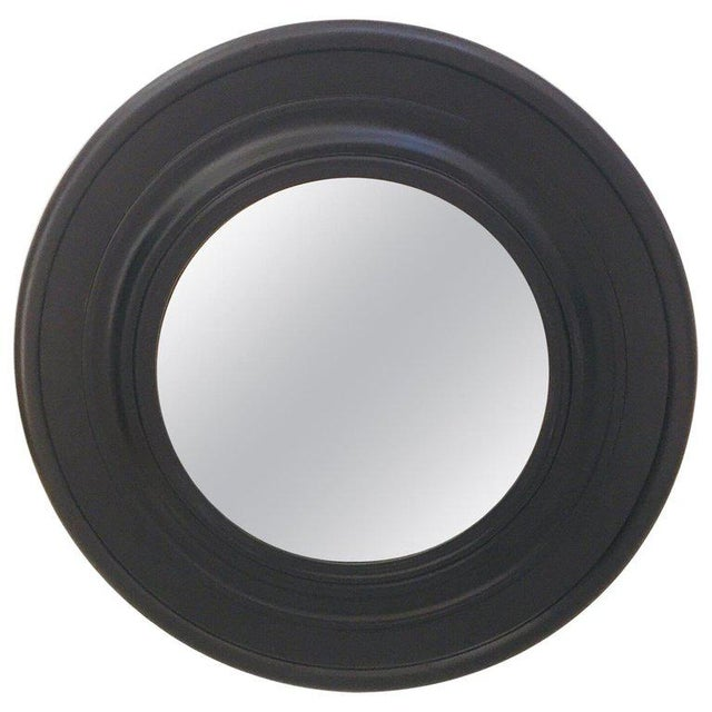 Large Round Black Painted Mirror For Sale - Image 10 of 11