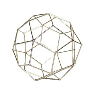 Contemporary Gold Geo Figurine Metal Tabletop Décor For Sale