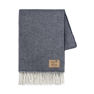 Navy Juno Cashmere Throw For Sale