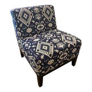 Ikat Print Slipper Chair For Sale