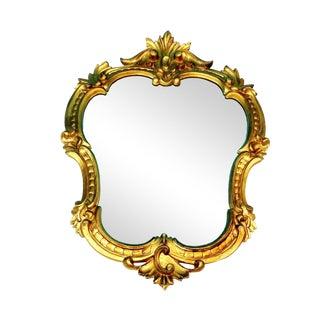 Italian Hollywood Regency Ornate Gold Gilt Wall Mirror