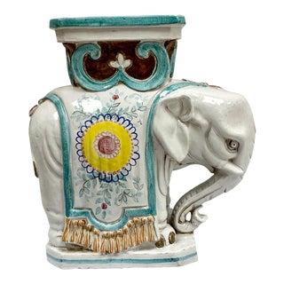 Italian Terracotta Elephant Garden Seat For Sale