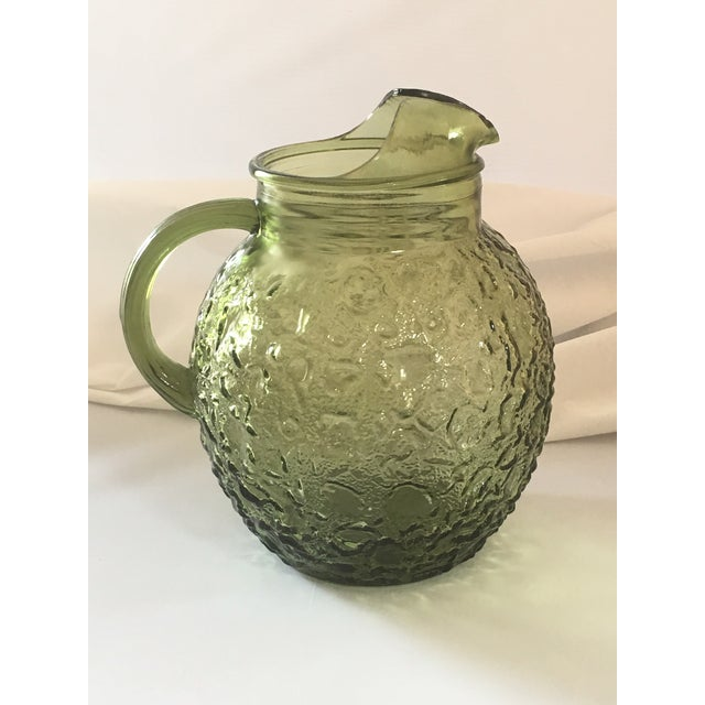 Vintage Avocado Green Lido Pitcher Set - Image 6 of 10
