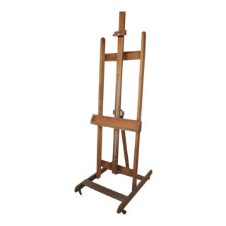 Mid-Century Art School Wood Easel For Sale