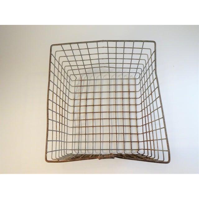 Metal Vintage Wire Locker Baskets - Set of 3 For Sale - Image 7 of 11