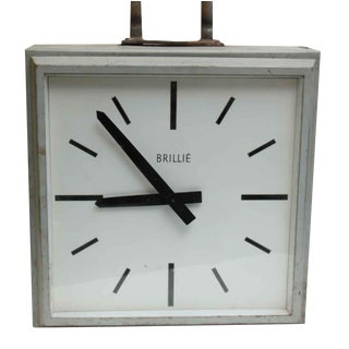 1960s Double Sided Hanging Clock