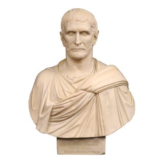 Plaster Bust of Brutus For Sale