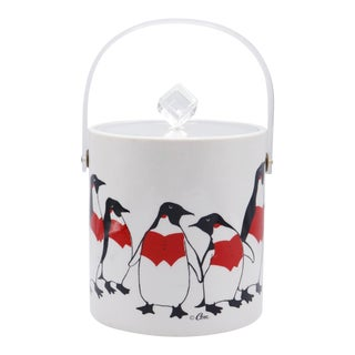 Mid Century Penguin Ice Bucket by Cera For Sale