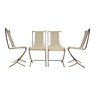 Pierre Cardin Chrome Sling Dining Chairs - Set of 4 For Sale