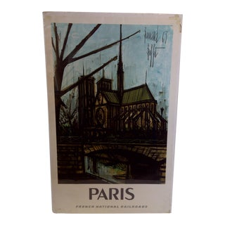 French National Railroad Print, Paris Circa 1967 For Sale