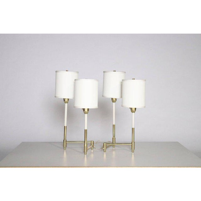 Hollywood Regency Parzinger Style Table Lamps For Sale - Image 3 of 8