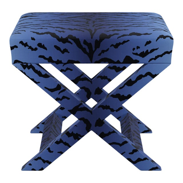 X Bench In Royal Tiger By Old World Weavers For Sale