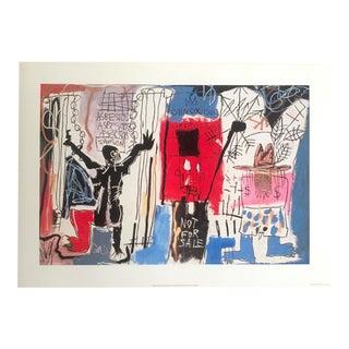 "Jean Michel Basquait Estate Original Pop Art Lithograph Fine Art Print "" Obnoxious Liberals "" 1982 For Sale"