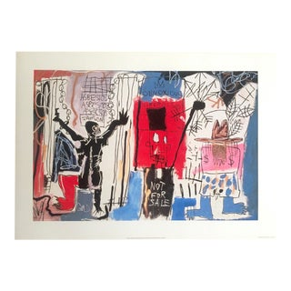 "Jean Michel Basquiat Estate Pop Art Lithograph Fine Art Print "" Obnoxious Liberals "" 1982 For Sale"