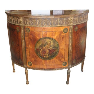 18th Century Georgian Demi-Lune Cabinet For Sale