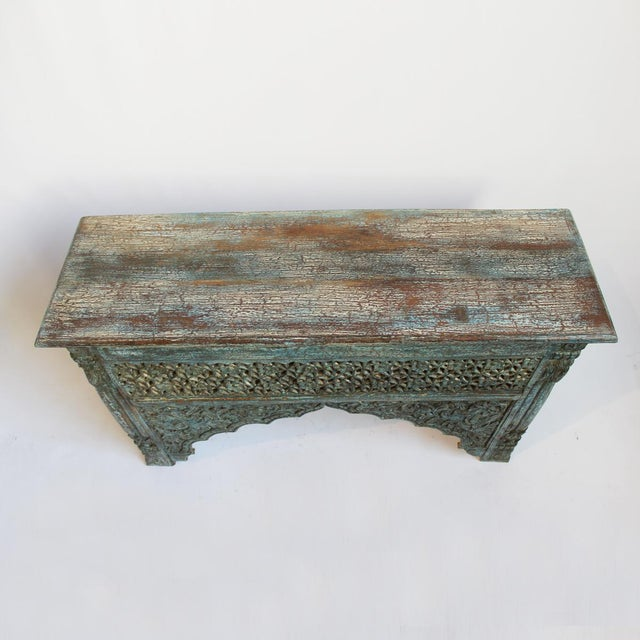 Architectural Carved Console Table - Image 3 of 6