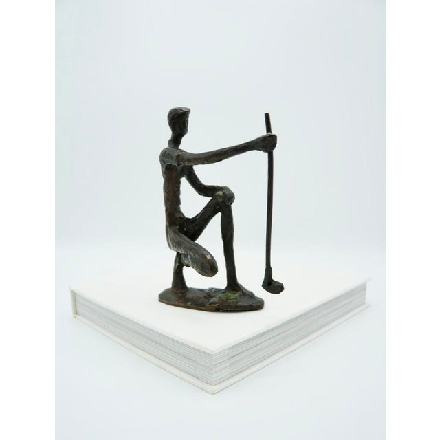 Alberto Giacometti Vintage Bronze Golfer on the Green Sculpture For Sale - Image 4 of 9