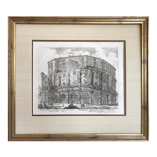 18th C Engraving of Theatre of Marcellus by Georg Christoph Kilian