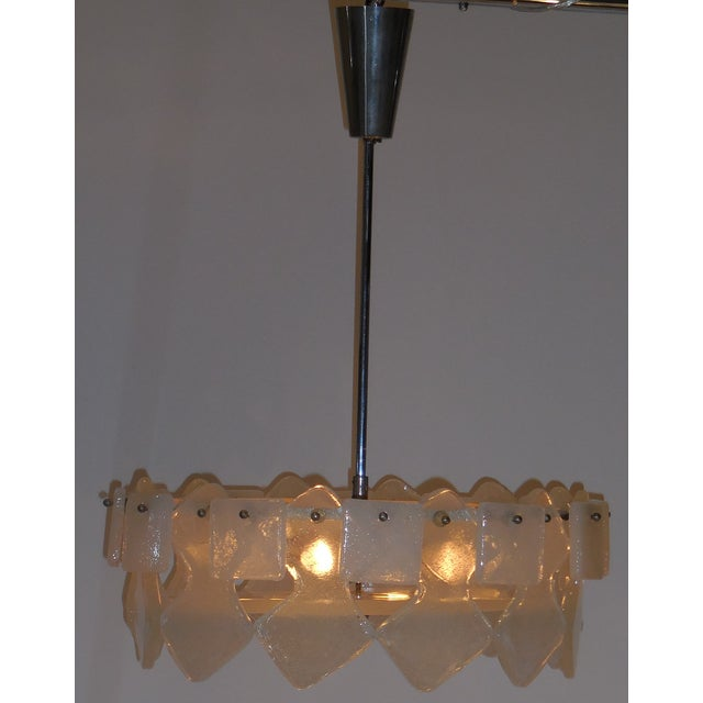 Vintage Frosted Chandelier - Image 2 of 10