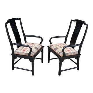 Vintage Century Furniture Chin Hua Arm Chairs - a Pair For Sale