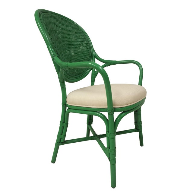 Selamat Designs Parsley Dahlia Arm Chairs - A Pair - Image 4 of 6
