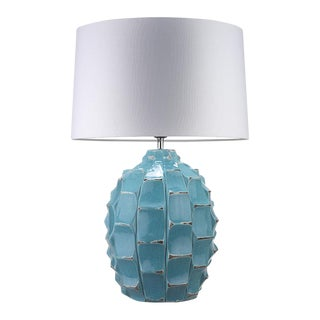 Turquoise Table Lamp For Sale