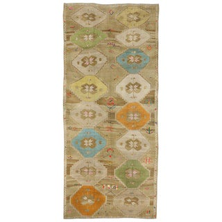 20th Century Turkish Oushak Gallery Rug - 6′6″ × 14′9″ For Sale