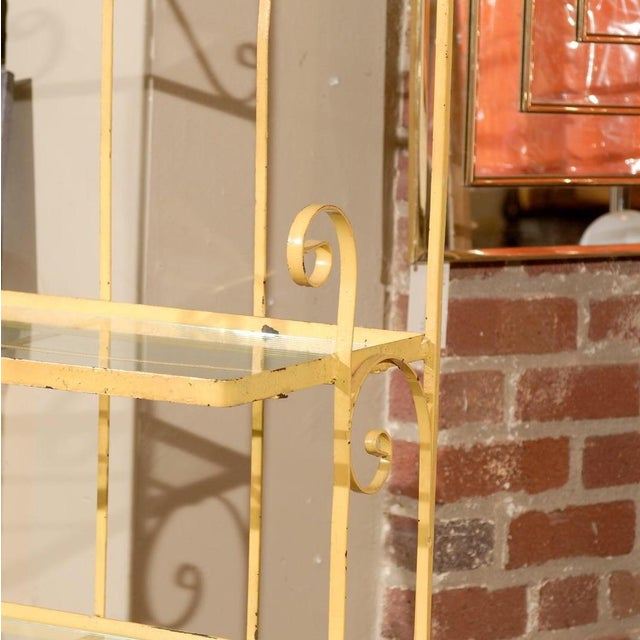 Mid-Century Yellow Iron Baker's Rack - Image 2 of 6