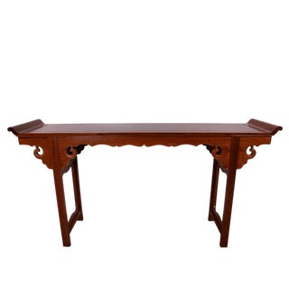 Vintage, Chinese Carved Rosewood Altar Table For Sale