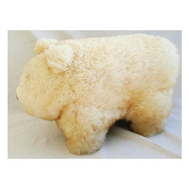 Vintage Lambswool Bear Ottoman - Image 7 of 8