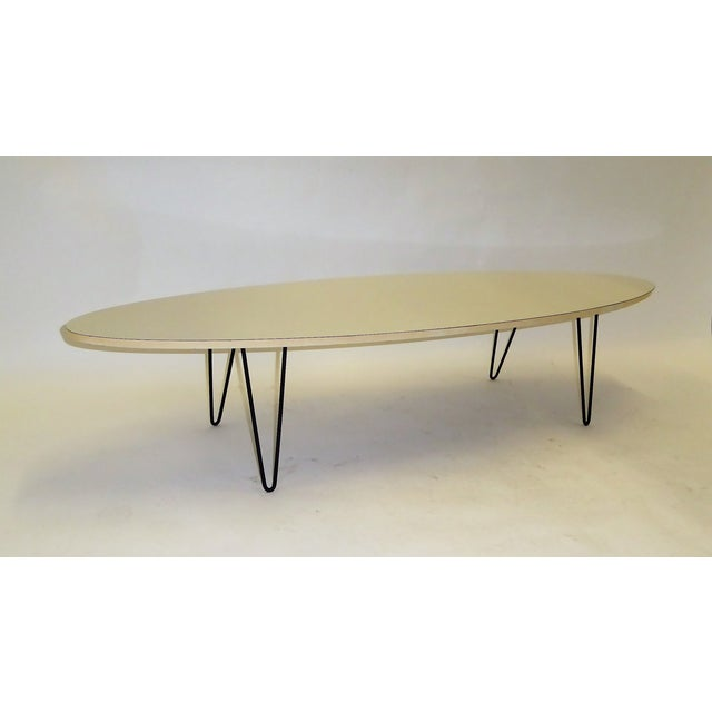 Mid-Century Modern Long Surfboard Cocktail Coffee Table C. 1950s For Sale - Image 10 of 13
