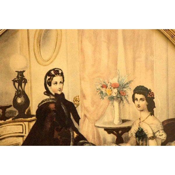 Framed Oval Victorian Print For Sale - Image 4 of 6
